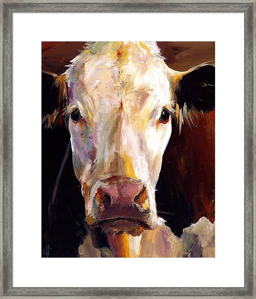 Gladys The Cow Framed Print