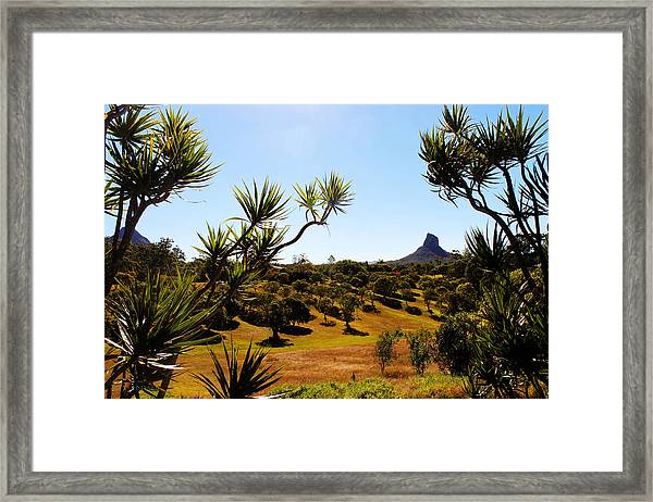 Glass Mountains Framed Print