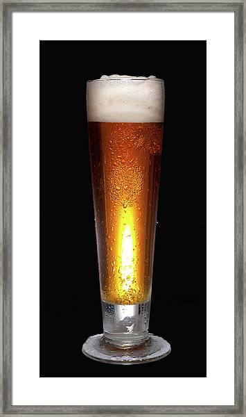 Glass Of Cold Beer Framed Print