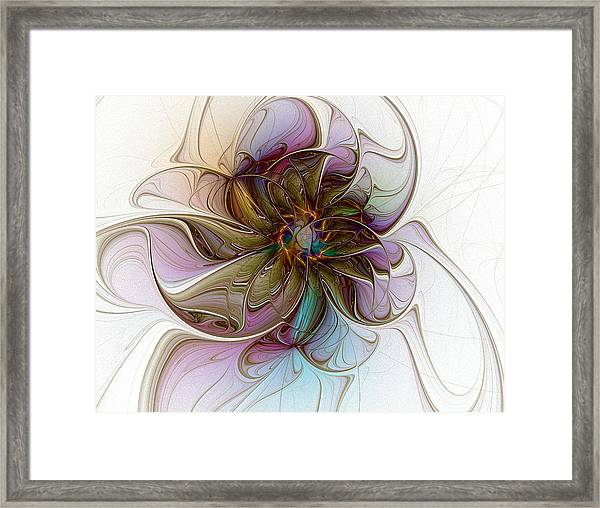 Glass Petals Framed Print