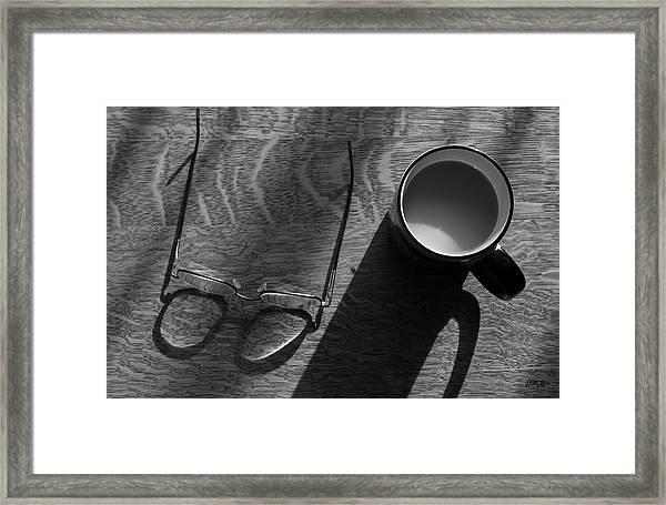 Glasses And Coffee Mug Framed Print