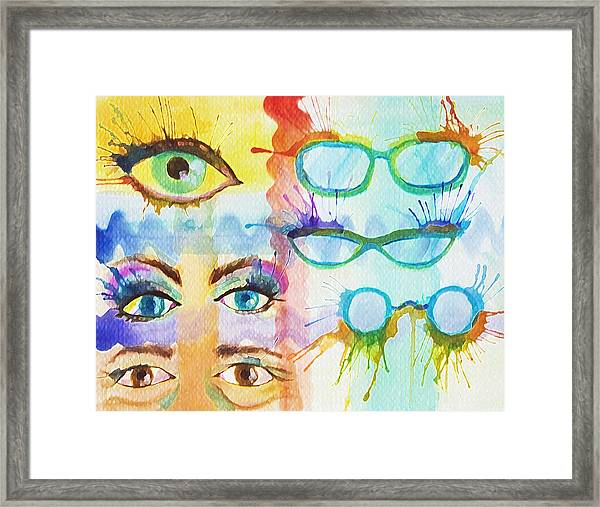 Glasses And Lashes Framed Print