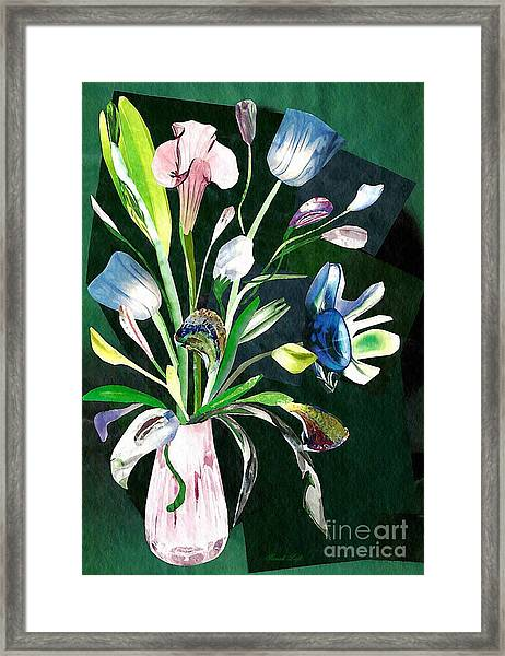 Glassflowers Framed Print