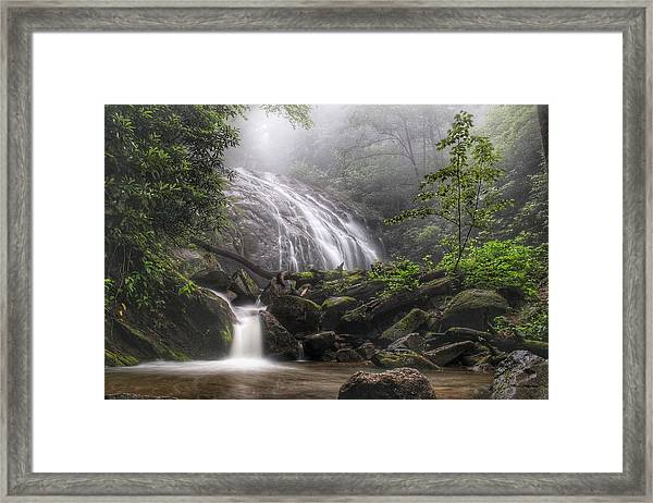 Glen Burney Falls Framed Print