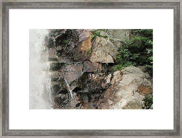 Glen Falls Abstract Framed Print