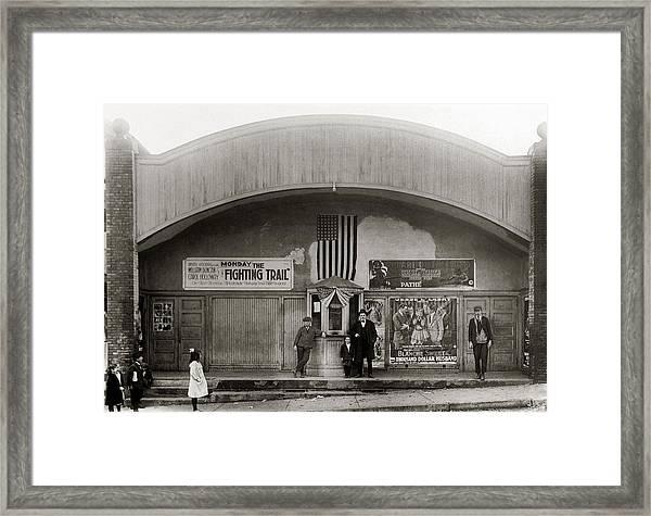 Glen Lyon Pa. Family Theatre Early 1900s Framed Print