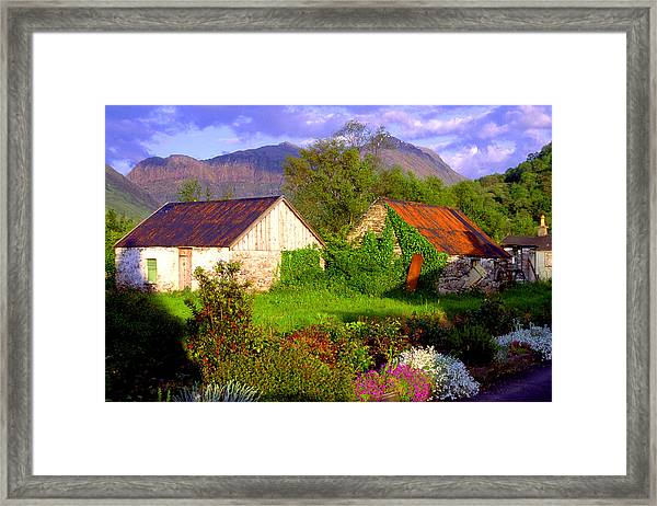 Glencoe Village Framed Print by John McKinlay