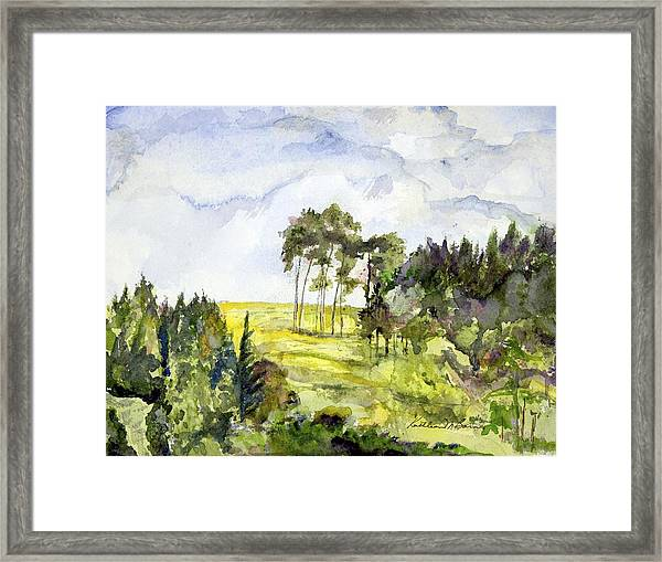 Glendalough Hillside Framed Print