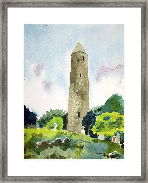 Glendalough Tower Framed Print