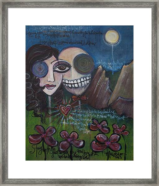 Framed Print featuring the painting Glenn And Allison by Laurie Maves ART