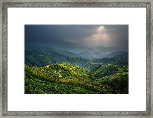 Glimmer Of Light Framed Print by Gunarto Song