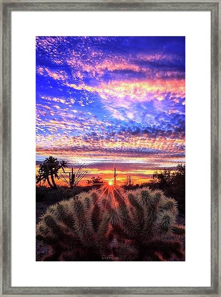 Glimmering Skies Framed Print