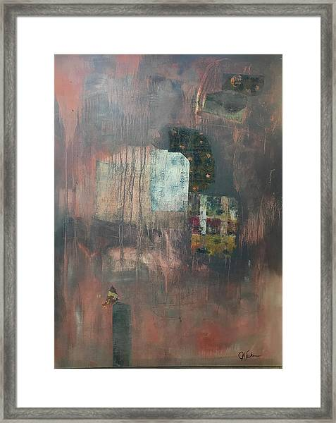 Glimpse Of Town Framed Print