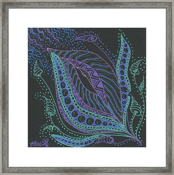 Glitter Flower Framed Print