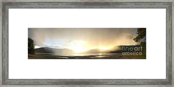 Glittering Shower Framed Print