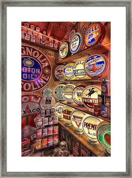 Globes Of The Past Framed Print