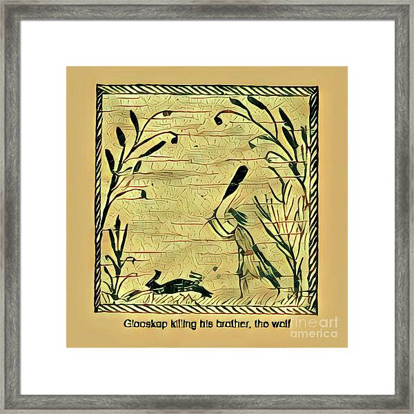 Glooscap Kills The Wolf Framed Print