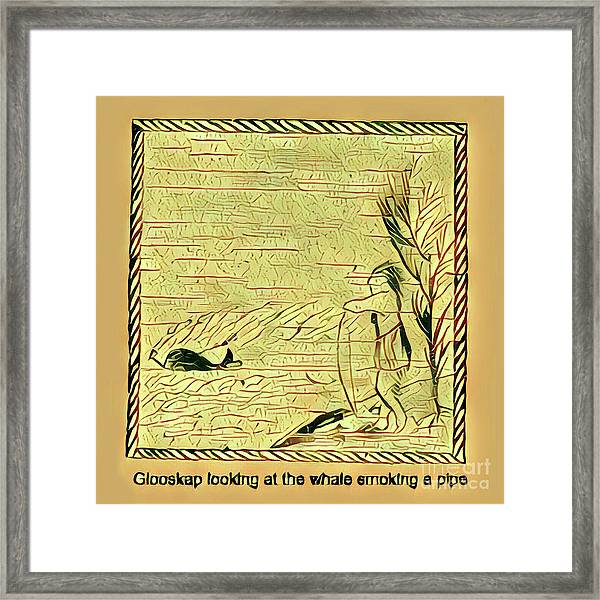 Glooscap Watching The Smoking Whale Framed Print