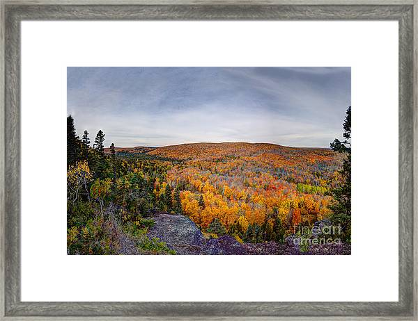 Glorious Autumn Lutsen Mountain Resort North Shore Minnesota Framed Print