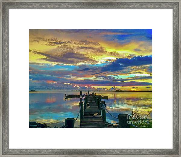 Glorious Dock Framed Print