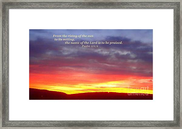 Glory And Praise  Framed Print