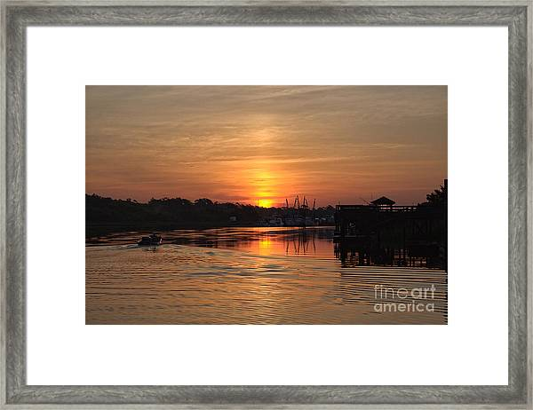 Glory Of The Morning On The Water Framed Print