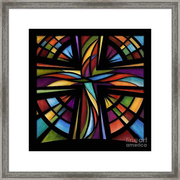 Framed Print featuring the mixed media Glory To God by Shevon Johnson