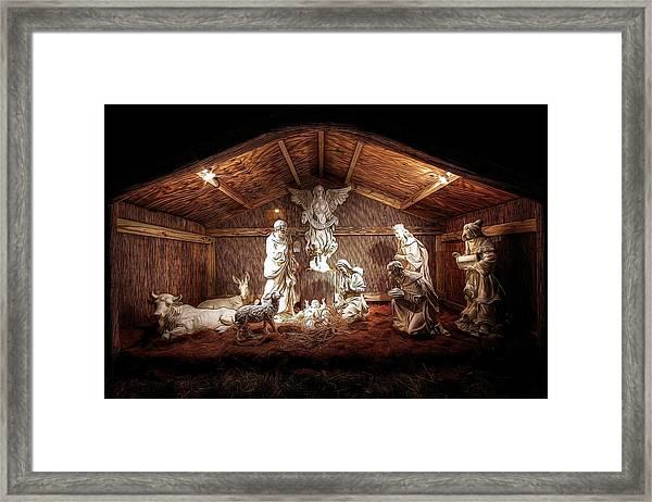 Glory To The Newborn King Framed Print