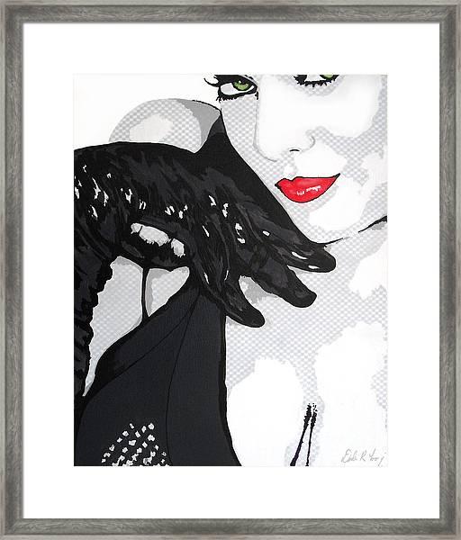 Gloves And A Smile Framed Print