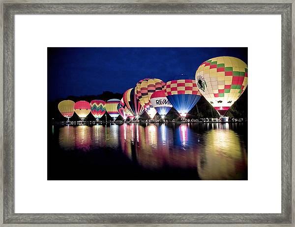 Glowing Balloons Framed Print