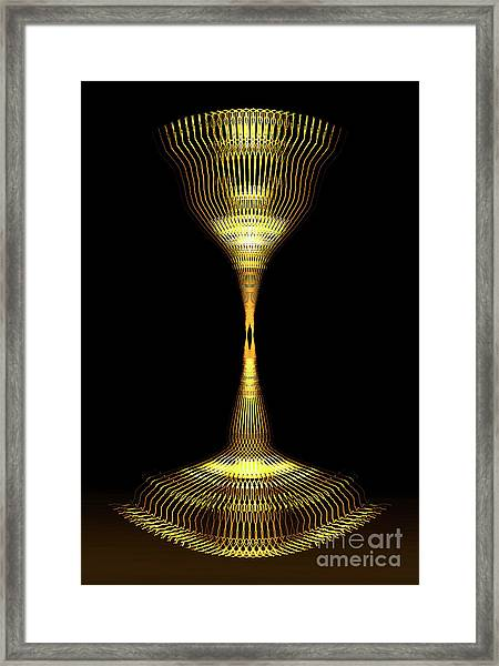 Glowing Brass Lamp Stand Framed Print