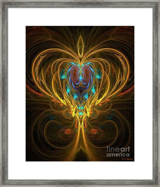 Framed Print featuring the digital art Glowing Chalise by Sandra Bauser Digital Art