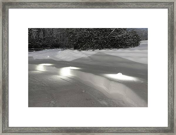Framed Print featuring the photograph Glowing Landscape Lighting by D K Wall
