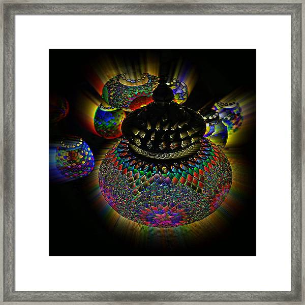 Glowing Lanterns Framed Print