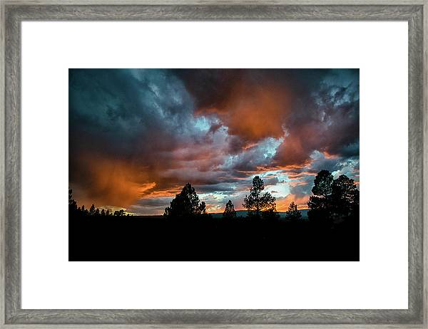 Glowing Mists Framed Print