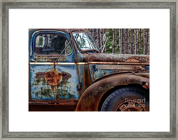Go Blue Framed Print
