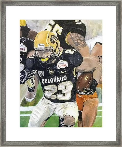 Framed Print featuring the painting Go Buffs by Kevin Daly