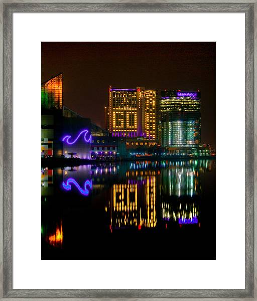 Go Ravens Baltimore Inner Harbor Framed Print