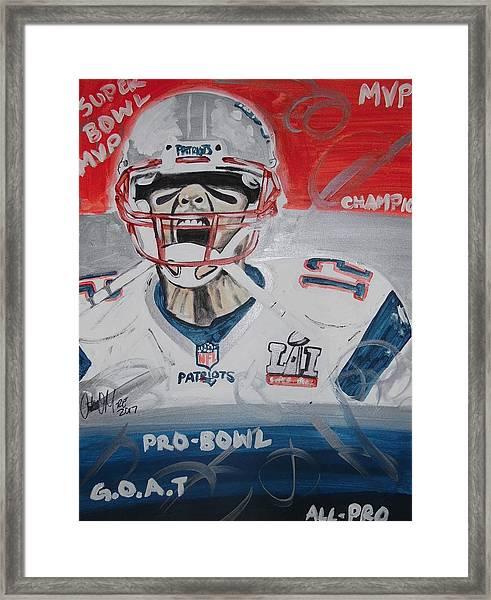 Goat Brady Framed Print