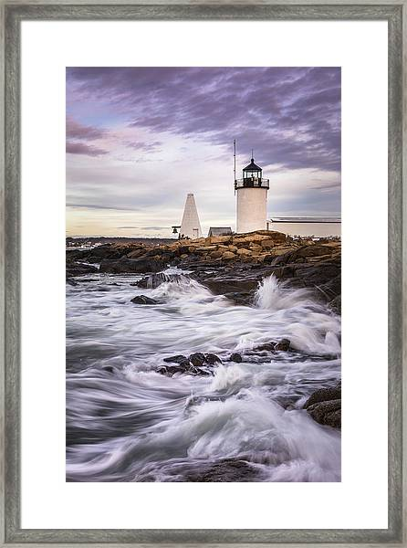Goat Island Lighhouse Framed Print