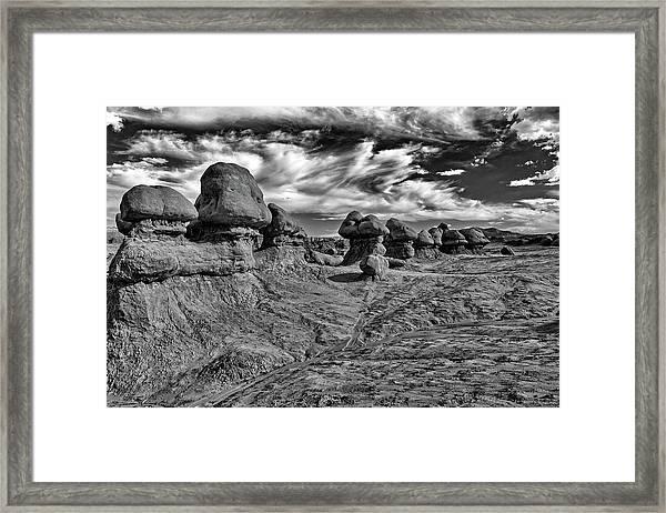 Goblins All In A Row Framed Print