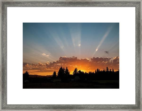 God Beams Framed Print