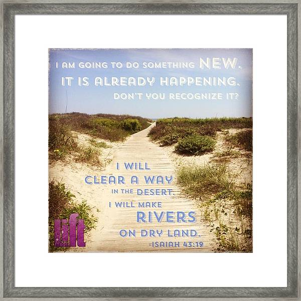 God Is Able To Make A Way Where There Framed Print