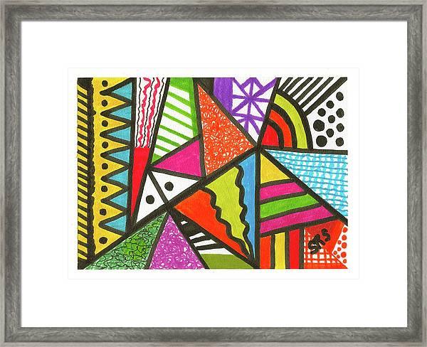 God Is Color Redux Framed Print