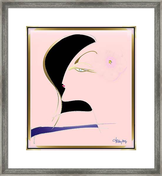 Framed Print featuring the painting Goddess by Larry Talley