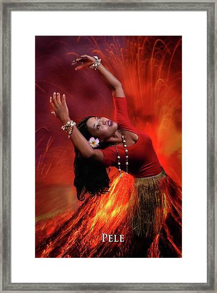 Goddess Pele Framed Print