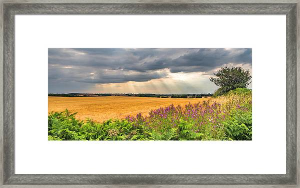 Framed Print featuring the photograph Gods Light by Nick Bywater