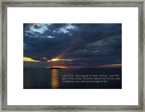 God's Lighthouse  Framed Print by Roberto Aloi
