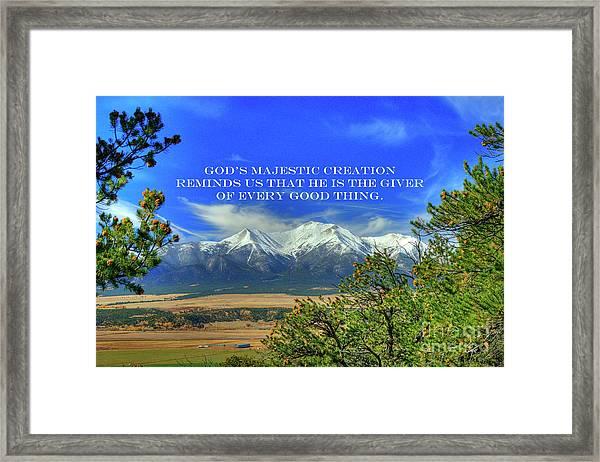 God's Majestic Creation Framed Print