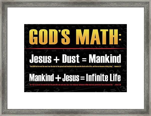 God's Math Framed Print